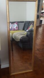 distressed gold frame mirror