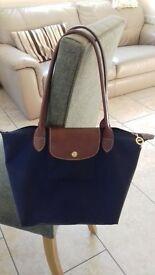 Longchamp le pilage navy blue designer handbag