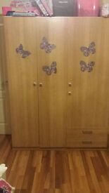3-part wardrobe with drawer and dressing table for only £100