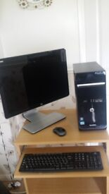 Desktop Computer Package . HP Tower, Monitor, Keyboard & Mouse.