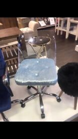 Blue velvet ghost chair, not been used only a few months old bought for £100 selling for £80
