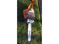 Stihl petrol chainsaw 16 inch cut