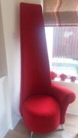 Designer Red Velvet Potenza Chair