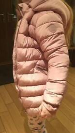 Girls Coat x2 (winter padded coat & summer mack)
