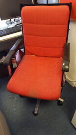 red office executive chair