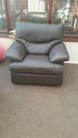 Leather recliner and 2 seater *FREE**