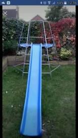 TP climbing frame, slide, platform and den