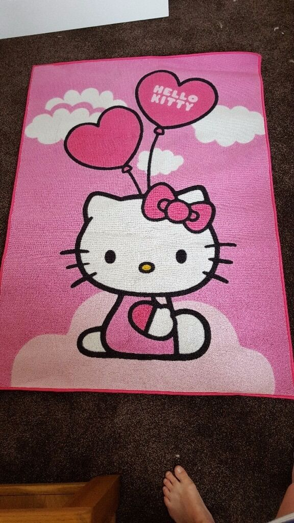 Childrens miss kitty rugin Worthing, West SussexGumtree - Lovely childrens miss kitty rug. Hardly used and has been stored well. One blue mark shown in pictures will come off with a good scrub