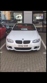 Bmw 3 series convertible white red leather e93 automatic