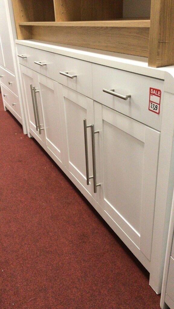 aston solid oak hidden drawer door sideboard large white in aston west midlands
