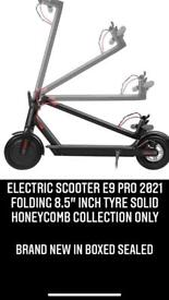 """ELECTRIC SCOOTER E9 PRO 2021 FOLDING 8.5"""" inch Tyre solid HONEYCOMB COLLECTION ONLY"""