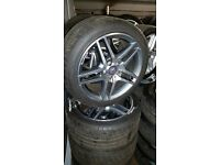 "Genuine 2014 Mercedes E220 AMG alloys 18"" 5x112"