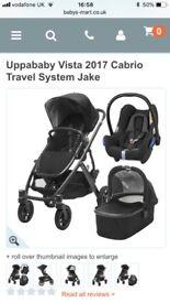 Uppababy Vista 2017 Cabrio Travel System Jake - hardly used