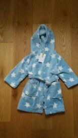 NEW WITH TAGS John Lewis 6-9 Months Baby Dressing Gown