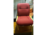 Pair of padded reception chairs