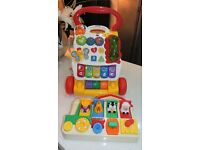 VTECH FIRST STEPS BABY WALKER & FISHER PRICE POP UP FARM ANIMALS RRP£35.00