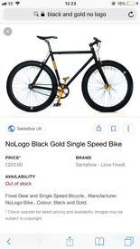 Black and gold no logo fixie