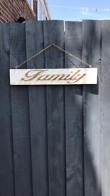 Handmade pallet wood sign
