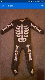 Halloween skeleton onesie bodysuit 18-24 months