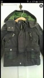 TED BAKER age 3 grey hooded jacket coat