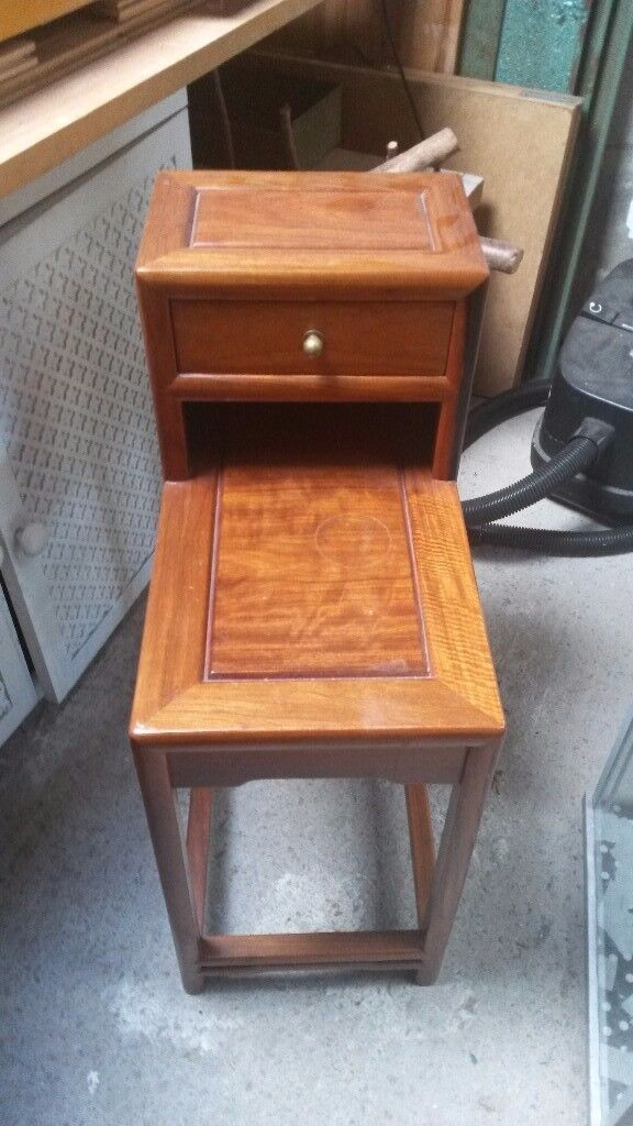 Cherry wood telephone/side table