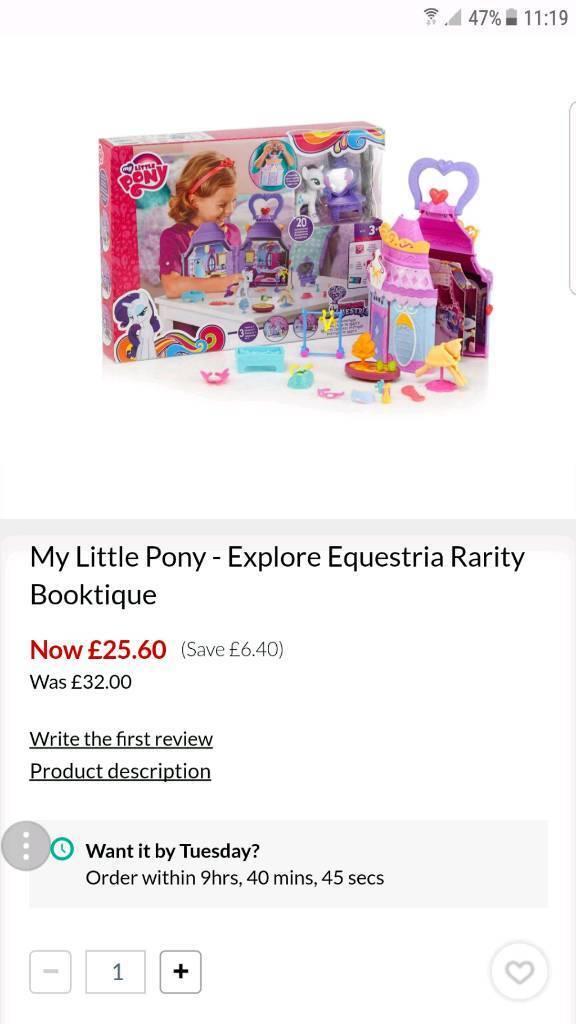 Rarity boutique set my little pony new