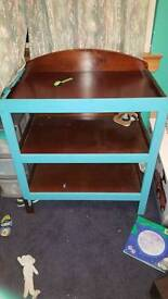 Baby change table upcycle project
