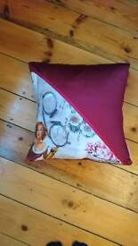 Lady in Red Cushion Cover