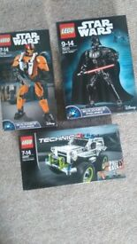 Lego Star Wars Figures and Technic Pull Back - New. Pickup only - StAnnes