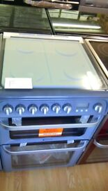 HOTPOINT silver Dual Fuel GAS RANGE COOKER 60cm