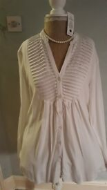 ladies white blouse size large