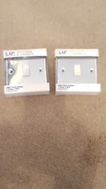 2 x Lap switches polished chrome brand new