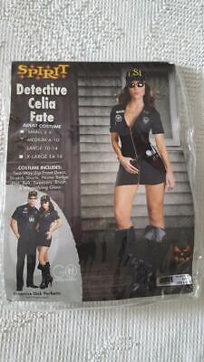 SPIRIT HALLOWEEN COSTUME CSI SEXY UNIFORM DETECTIVE CELIA FATE ADULT SZ M,