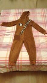 chewacca onesie size 5-6years