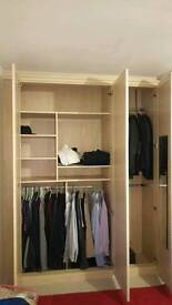 Cupboards / wardrobes and bedside drawers