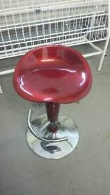 Red Metallic Breakfast/Bar Stool