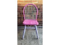 SHABBY CHIC SPINDLE BACK CHAIR