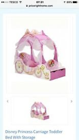 Disney Princess toddler bed book stand and dressing table