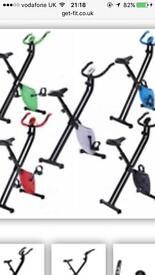 Folding Exercise Bike - Hardly used
