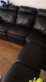 Black corner recliner
