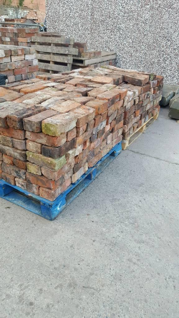 Handmade reclaimed bricks