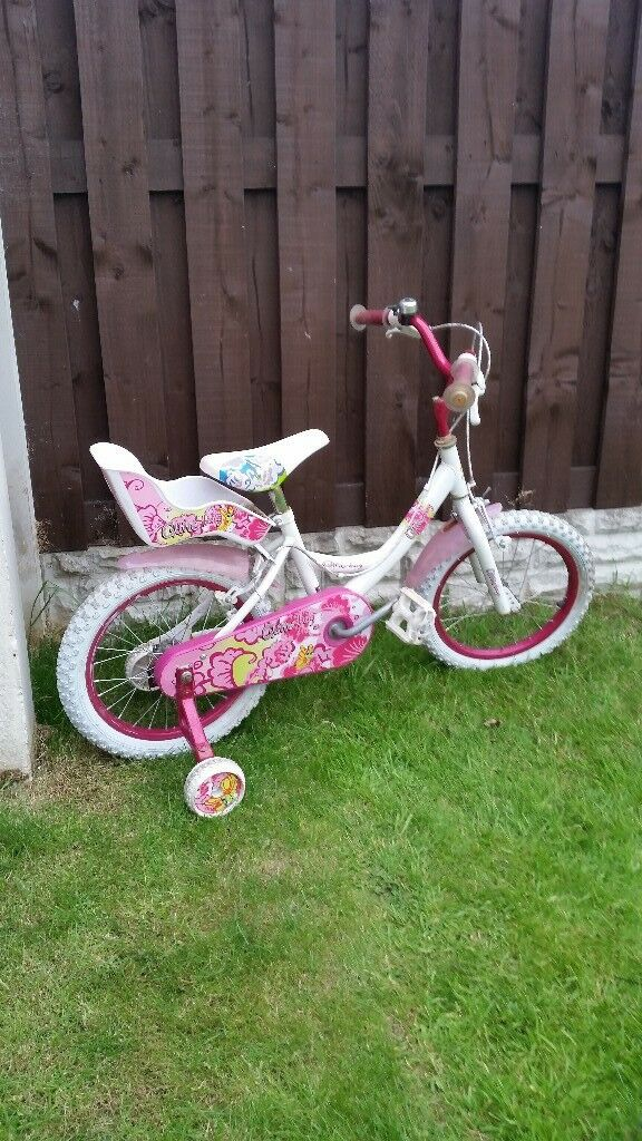 """Girls 16"""" bike with dolly seat can deliver for a small chargein Sheffield, South Yorkshire - Hello there I am selling a girls 16"""" bike with dolly seat and stabilisers and this is all in excellent condition and in excellent working order and in fully working order and this can be seen fully working so bag a good bargain this summer and keep..."""
