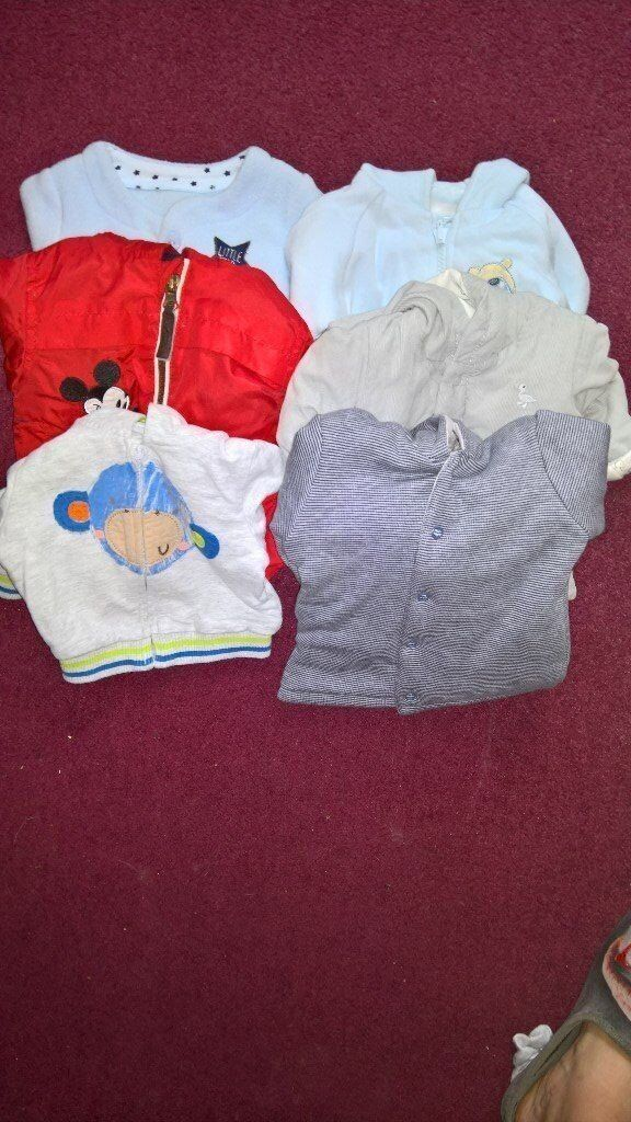 6 coats and one thermal onesie newborn to 1 month baby clothes for boy outdoor clothes cute outfits