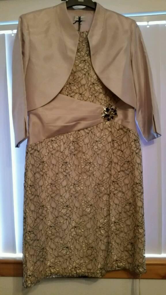 Dress ivory/gold