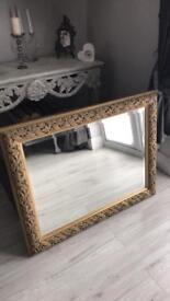 Ornate bevel edge mirror