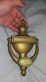 brass (?) door knocker