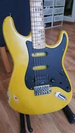 Stratocaster Partscaster Guitar. Unfinished project,.
