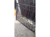 Old iron driveway gate
