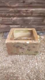 Fireclay trough /planter