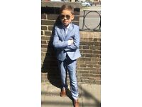 Boys suit with waistcoat shirt and tie